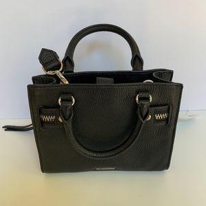 Small Geneva Black Leather Satchel